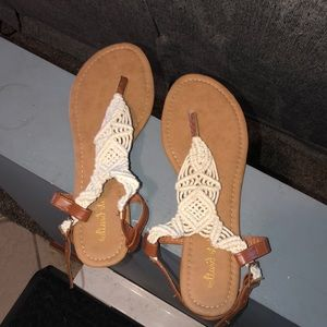 Sandals. WORN ONCE!